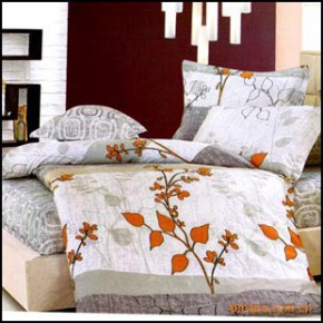 【艾博】情叶之旅100%纯棉 床上用品 爽肤 活性印花 四件套新款