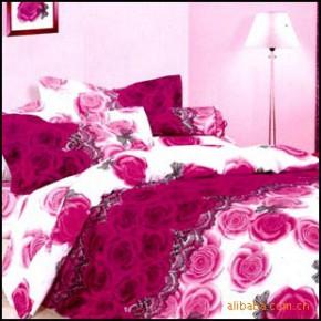 【艾博】相爱玫瑰100%纯棉 床上用品  爽肤 活性印花 四件套新款