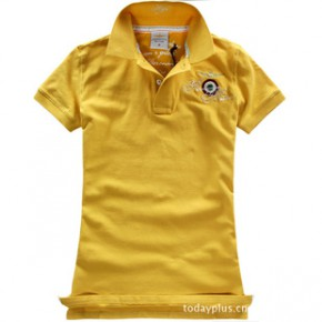 2011新款夏装 欧美女式空军一号潮流徽章刺绣短袖T恤 6813
